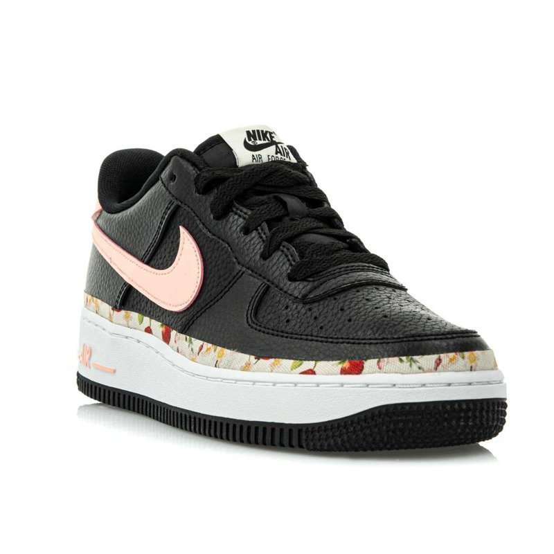 BUTY JUNIOR NIKE AIR FORCE 1 VF (GS) CZARNE BQ2501 001