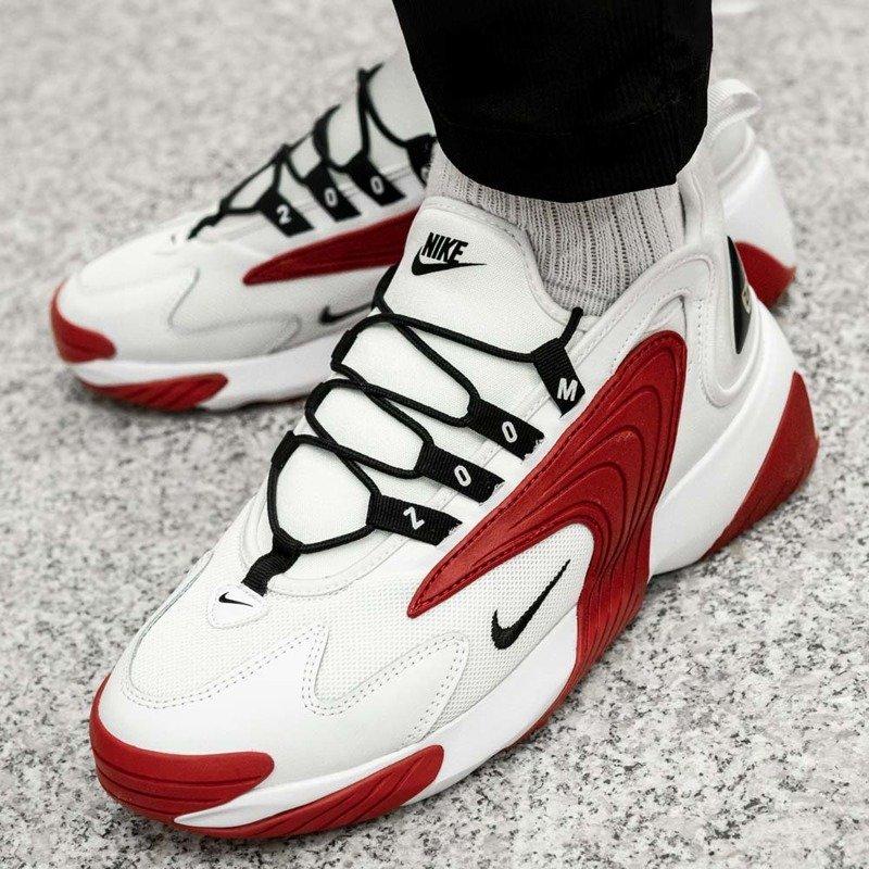 buty nike zoom2k męskie biało czerwone rozmiar 46