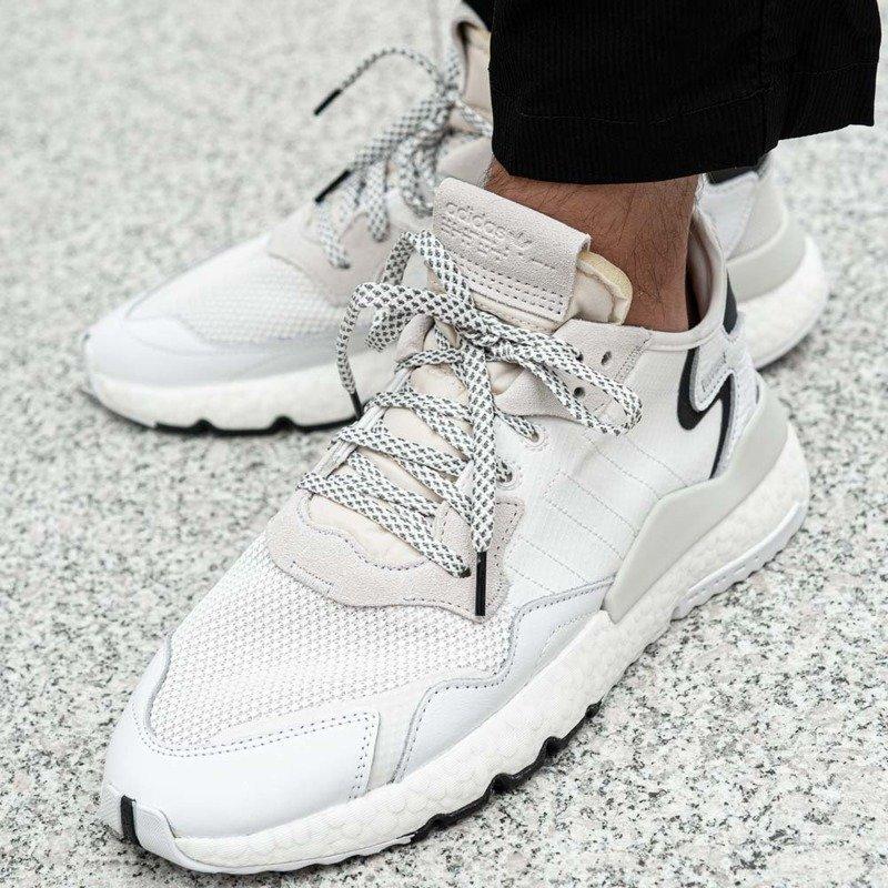 BUTY MĘSKIE ADIDAS NITE JOGGER BIAŁE EE6255   Sneakershop.pl