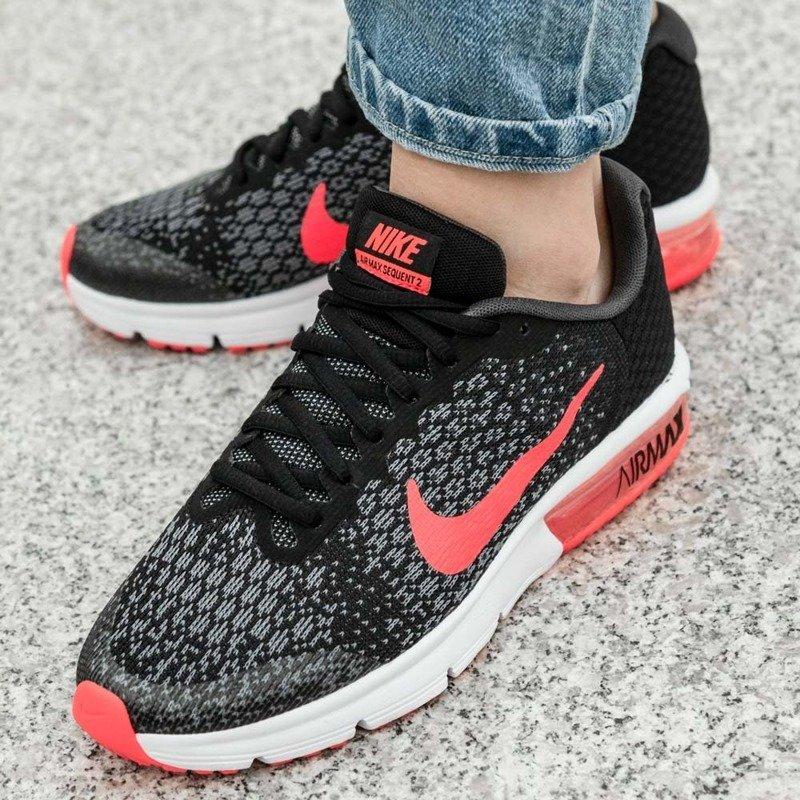 Buty sportowe damskie Nike dla biegaczy air max sequent bez