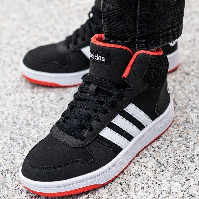 Buty zimowe Adidas Hoops Mid 2.0 K (B75743)